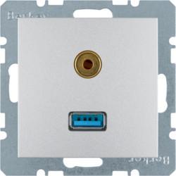 3315391404 - S.1/B.x - USB / jack 3.5mm, alum mate BERKER EAN:4011334330165