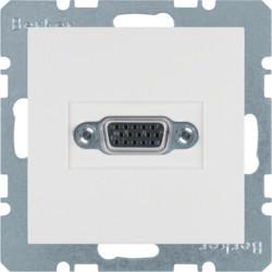 3315411909 - S.1/B.x - tomada VGA paraf., branco mate BERKER EAN:4011334330387