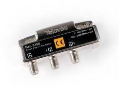 "5150 -8424450051504 TELEVES - Repartidor Interior (5-2400MHz) 2D ""F"" 4dB DC"