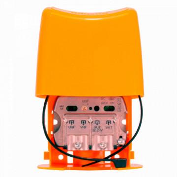 """561621 - TELEVES - Amplificador Mastro NanoKom 3e/1s """"EasyF"""": UHF[dc]-VHFmix-FImix[dc] G 30 - (-1) - (-2)dB Vs 107dBµV c/USOS. Alim. 12...24V (Passagem DC Comutável)"""