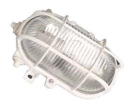 700152 - 8436021941527 Luminária de parede oval de plástico, E27 60W 230V White