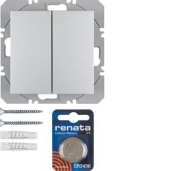 85656283 - B.7 - BP duplo KNX RF, alumínio mate BERKER EAN:4011334370642