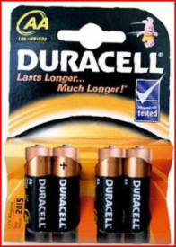 9000102 - 5000394002241 Pilha alcalina DURACEL Basic LR6 (AA), Blister 4 Ud.