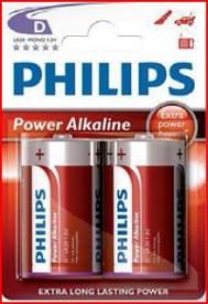 9000314 - 8433373050129 Bateria alcalina PHILIPS LR20 (D) Embalagem blister 2 unidades