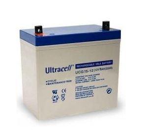 Bateria de Gel 12V 75Ah (258 x 168 x 208 mm) - Ultracell