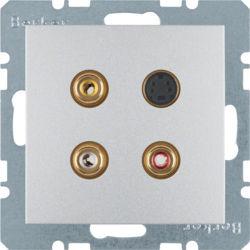 BERKER - 3315321404 - S.1/B.x - tomada 3xRCA+S-video, alum mt 23