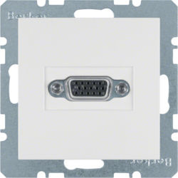 BERKER - 3315401909 - S.1/B.x - tomada VGA, branco mate 23