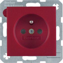 BERKER - 6765760062 - S.1/B.x - tomada FR obturad., encarn mt 23
