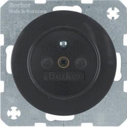BERKER - 6765762045 - R.1/R.3 - tomada FR obturad., preto 23