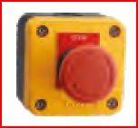 CAIXA NP2-J01 + NP2ES542 (BOTÃO EMERGÊNCIA PVC C/ SETA 1NC 40MM VERMELHO)