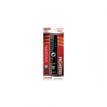 "Comando TV Universal – Superior ""Freedom USB 4in1 Negro"""