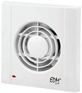 EDM Extrator de WC 13W Ø75mm Branco 230V 40dB