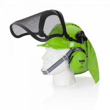 Equipamentos de Protecção - 845 - Capacete de Segurança c/ Proteção Facial e Auricular VITO