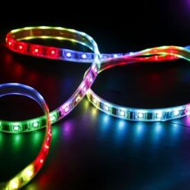 Fita LED SMD3528 60LED'S/MT 4,8W/M IPN0 RGB (Rolo de 5 metros)