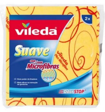 Higiene Pessoal, Detergentes e Ambientadores - 4419 - Vileda Pano Suave c/Microfibras c-2 Unidades K.M.S