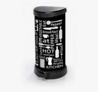 KETER CURVER 197124 Cubo IML Letras cozinha fecho pedal 40L P(cm)29,8 A(cm)69,7 L(cm)34,9