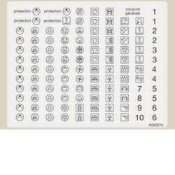 L051 - Folha c/100 símb. p/circuitos domésticos HAGER EAN:3250610100905
