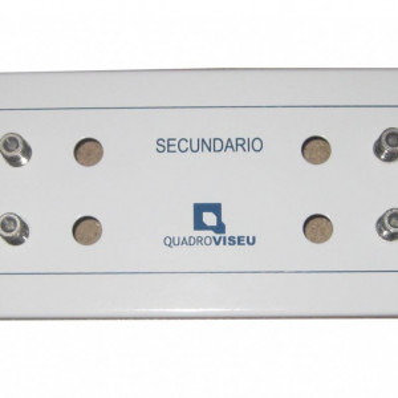 Quadro Viseu MÓDULO RC-CC 2X6 SAÍDAS PARA ATI/CATI MODULAR VISBOX (2 ESPAÇOS) VB.616