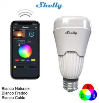 ShellyBulb - Lampada inteligente controlada via Wi-Fi (RBG + branco). BRANCO