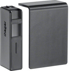 SL2005569011 - Topo esq./dir. SL20055, preto grafite HAGER EAN:4012740894180