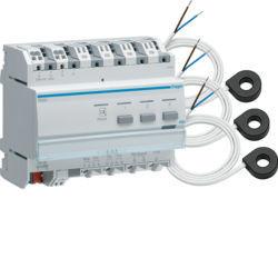 TE332 - Indicador consumos electr. c/ toros KNX HAGER EAN:3250615853318