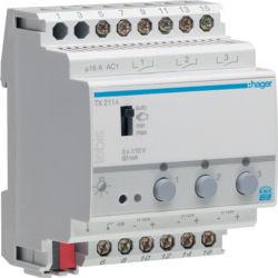 TX211A - Variador 1/10V 3 canais KNX HAGER EAN:3250617574037