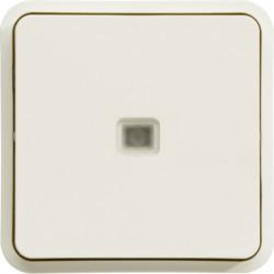 WNA021B - cubyko - Botão inversor c/sinaliz, branc HAGER EAN:3250617175210