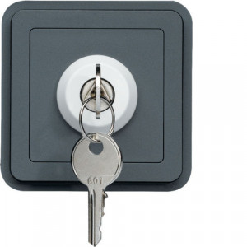 WNA035 - cubyko - Interrup. chave c/2 pos, cinz HAGER EAN:3250617174350