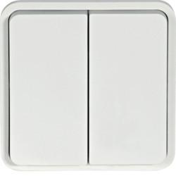 WNA040B - cubyko - Comutador escada duplo, branco HAGER EAN:3250617175401