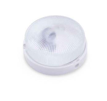 000700648 - Aplique plástico redondo E27 60W 230V Branco 8436021946485