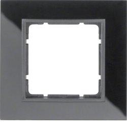 10116616 HAGER B.7 - quadro x1, Vidro preto***