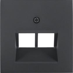 14091606 - S.1/B.x - espelho RJ45 duplo, antrc mate BERKER EAN:4011334222156