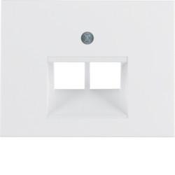 14097009 - K.1/K.5 - espelho RJ45 duplo, branco BERKER EAN:4011334263418