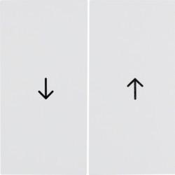 16258989 - S.1/B.x - tecla dupla estores, branco BERKER EAN:4011334278351