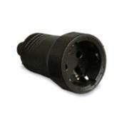 200060 - 8436021940605 Entrada de cabo reto de base aérea 4.8mm Preto