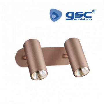 202000002 - Refletor linear duplo para teto GU10 Max.60W Cobre 8433373018372