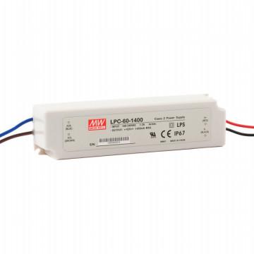 202186.415 - Drive CC Led Mean Well IP67 9-42Vdc 1400mA LPC-60 - Quant. fornecida = 1 un
