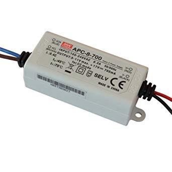 202233.12 - Drive CC Led Mean Well IP42 6-11Vdc 700mA APC-8 - Quant. fornecida = 1 un