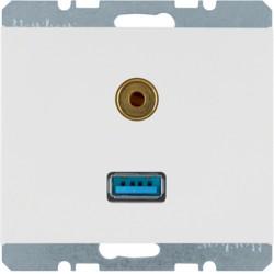 3315397009 - K.1/K.5 - USB / jack 3.5mm, branco BERKER EAN:4011334330189