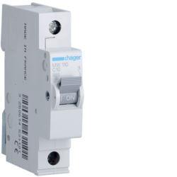 MW110 - Disjuntor 1P 10A C 3kA 1 M HAGER