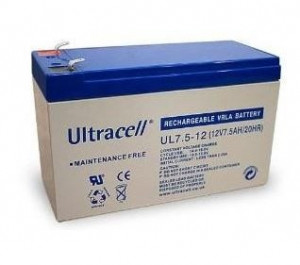Bateria Chumbo 12V 7,5Ah (150 x 63 x 95 mm) - Ultracell
