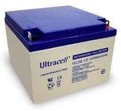 Bateria GEL 12V 26Ah (175x166x125mm) - Ultracell