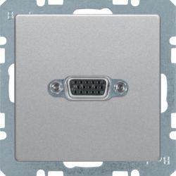BERKER - 3315416084 - Q.x - tomada VGA paraf., alumínio 23