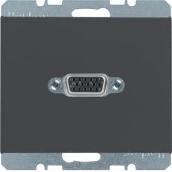 BERKER - 3315417006 - K.1/K.5 - tomada VGA paraf., antrc mate 23