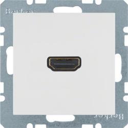 BERKER - 3315431909 - S.1/B.x - tomada HDMI ficha 90º, brc mt 23