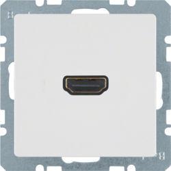 BERKER - 3315436089 - Q.x - tomada HDMI ficha 90º, branco 23