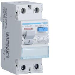 CDC240P - Inter. dif. 2P 40A 30 mA tipo AC 2 M HAGER