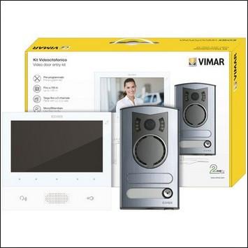 ELVOX Kit de videoporteiro mono/bifamiliar Due Fili Plus - K40505/M