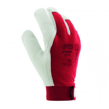 Equipamentos de Protecção - 5764 - Luva Algodão/Pele Cabra Ajuste Velcro 8