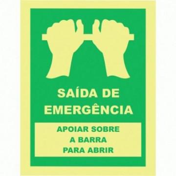 Equipamentos de Protecção - 6111 - Sinal Emergência 150X200